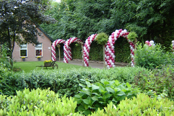 Ballonbogen in tuin