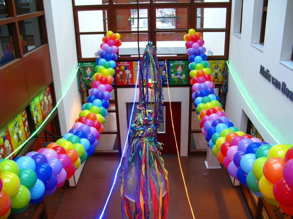 Ballondecoratie ballen carnaval